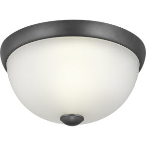 Graphite One-Light Flush Mount