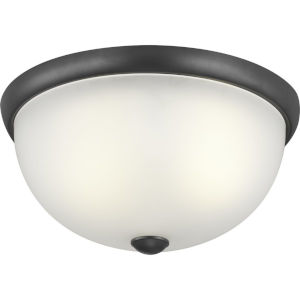 Graphite Two-Light Flush Mount