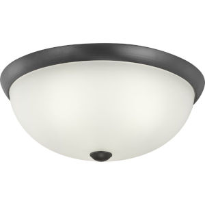 Graphite Three-Light Flush Mount