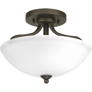 P350057-020: Laird Antique Bronze Two-Light Semi Flush Mount