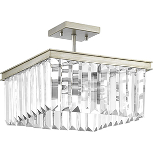 P350058-134: Glimmer Silver Ridge Two-Light Semi Flush Mount
