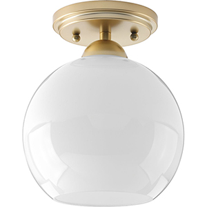 P350075-078: Carisa Vintage Gold One-Light Semi Flush Mount