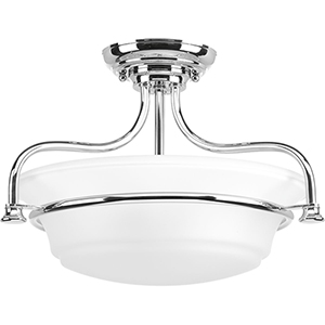 P350079-015: Tinsley Polished Chrome Two-Light Semi Flush Mount