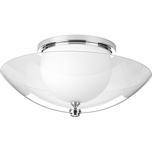 P350080-015-30: Fortune Polished Chrome Energy Star LED Semi Flush Mount