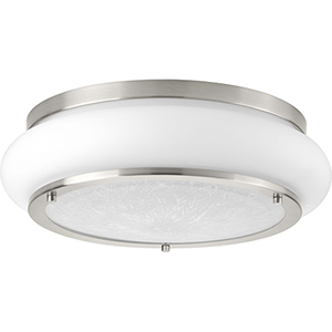 P350082-009-30: Opal-Linen LED Brushed Nickel Energy Star LED Flush Mount