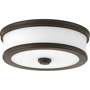 P350085-020-30: Bezel LED Antique Bronze Energy Star LED Flush Mount