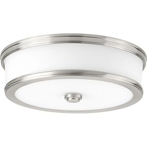 P350086-009-30: Bezel LED Brushed Nickel Energy Star LED Flush Mount