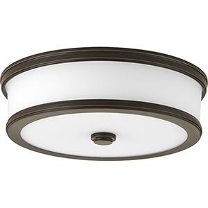 P350086-020-30: Bezel LED Antique Bronze Energy Star LED Flush Mount