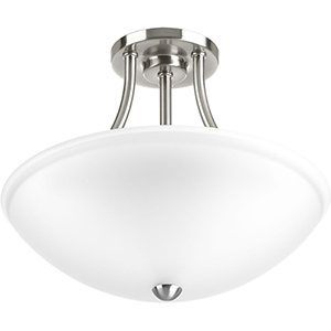 P350088-009-30: Gather Brushed Nickel Energy Star LED Semi Flush Mount