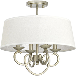 P350092-134: Savor Silver Ridge Four-Light Semi Flush Mount