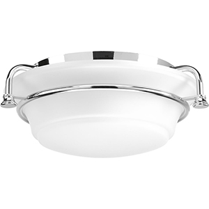 P350103-015: Tinsley Polished Chrome Two-Light Flush Mount