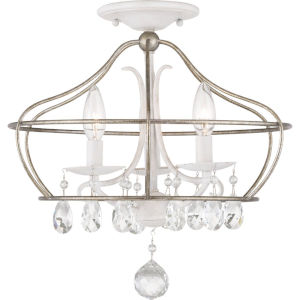 Fleurette Three-Light Semi-Flush