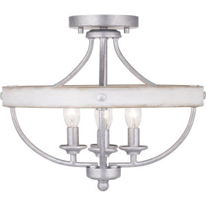 Gulliver Galvanized Four-Light Semi-Flush