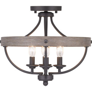 Gulliver Graphite Four-Light Semi-Flush