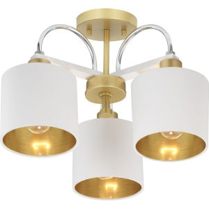 Rigsby Vintage Gold Three-Light Semi-Flush