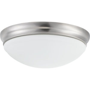Brushed Nickel LED One-Light Flush Mount