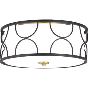 Landree Black Three-Light Flush Mount