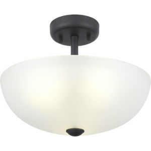 Graphite Three-Light Semi-Flush