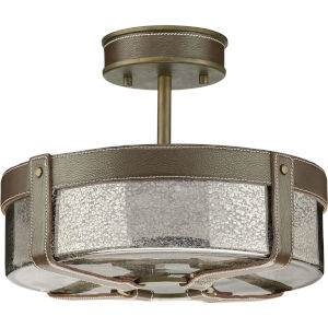 Rockdance Aged Brass Four-Light Semi-Flush