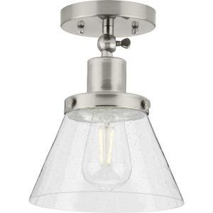 Hinton Brushed Nickel One-Light Flush Mount Ceiling Light