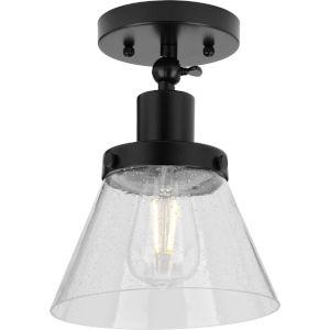 Hinton Matte Black One-Light Flush Mount Ceiling Light