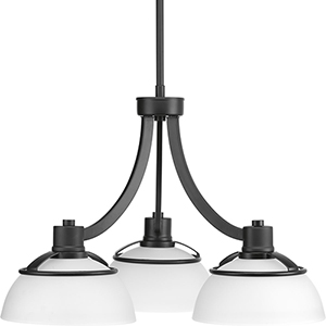 P400034-031: Domain Black Three-Light Chandelier