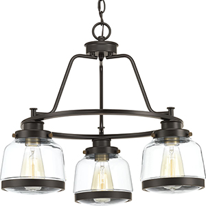 P400057-020: Judson Antique Bronze Three-Light Chandelier