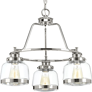 P400057-104: Judson Polished Nickel Three-Light Chandelier