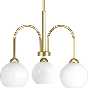 P400059-078: Carisa Vintage Gold Three-Light Chandelier