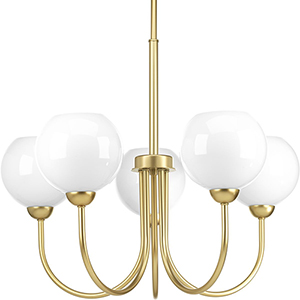 P400060-078: Carisa Vintage Gold Five-Light Chandelier
