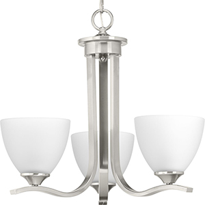P400062-009: Laird Brushed Nickel Three-Light Chandelier
