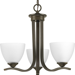 P400062-020: Laird Antique Bronze Three-Light Chandelier