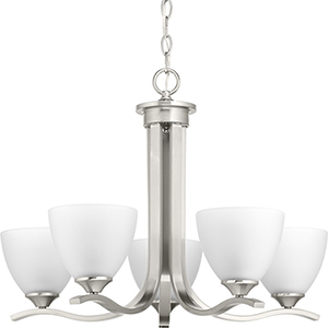 P400063-009: Laird Brushed Nickel Five-Light Chandelier