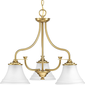 P400065-109: Tinsley Brushed Bronze Three-Light Chandelier