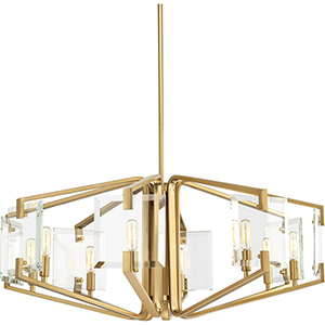P400072-109: Cahill Brushed Bronze Eight-Light Chandelier