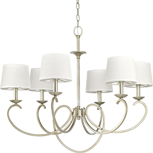 P400075-134: Savor Silver Ridge Six-Light Chandelier