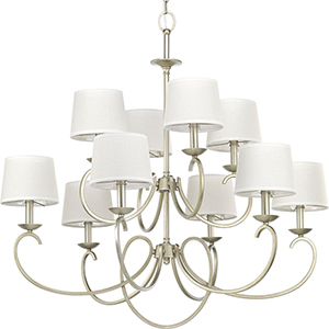 P400076-134: Savor Silver Ridge 10-Light Chandelier