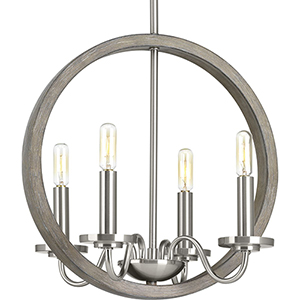 P400080-009: Fontayne Brushed Nickel Four-Light Chandelier