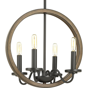 P400080-020: Fontayne Antique Bronze Four-Light Chandelier