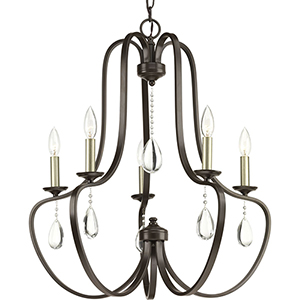P400087-020: Anjoux Antique Bronze Five-Light Chandelier