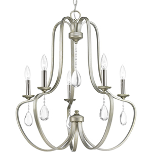P400087-134: Anjoux Silver Ridge Five-Light Chandelier