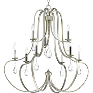 P400088-134: Anjoux Silver Ridge Nine-Light Chandelier