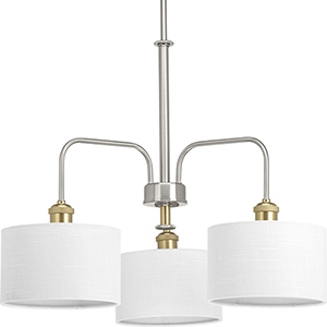 P400089-009: Cordin Brushed Nickel Three-Light Chandelier