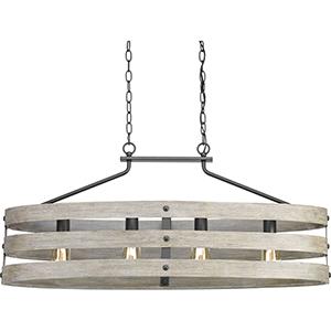 P400097-143: Gulliver Graphite Four-Light Chandelier