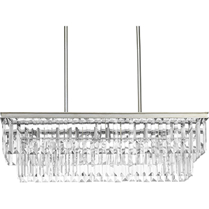 P400101-134: Glimmer Silver Ridge Four-Light Chandelier