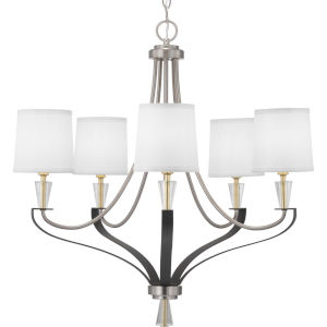 Nealy Brushed Nickel Five-Light Chandelier