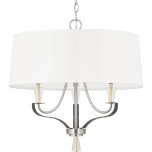Nealy Brushed Nickel Three-Light Chandelier