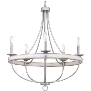 Gulliver Galvanized Five-Light Chandelier