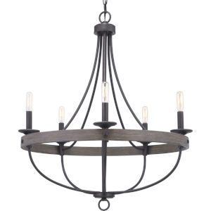 Gulliver Graphite Five-Light Chandelier