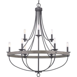 Gulliver Graphite Nine-Light Chandelier